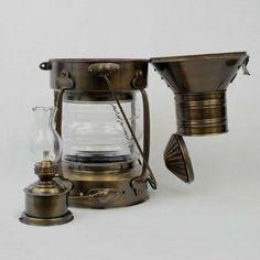 "Amazon.com: Antique Brass Ship Anchor Oil Lantern 20"" - Lantern Lamp - Nautical Lighting - Nautical: Home & Kitchen"