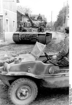 German Tiger tank & amphibious Kubelwagon.