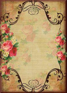 rosas e arabescos em moldura www.elo7.com.br/belomimo