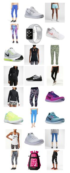 Hey guys, it's Fitness Fashion Friday again! I think it's becoming my favorite day of the week. Today we're talking crushworthy Nike workout gear. Nike Workout Gear, Workout Wear, Gym Workouts, At Home Workouts, Fitness Fashion, Fitness Clothing, Fashion Group, Boss Lady, Polyvore Outfits