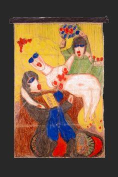 Enlèvement d'une mariée de Gaule, vers 1917 - Aloïse Corbaz