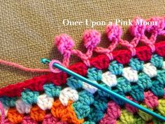 DIY:  Crocheted Pom Pom Edge Tutorial.