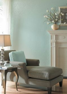 For the paint colour -- Duck egg blue -- I love this. I could have very nice afternoon sleep here.