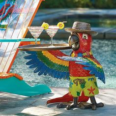Margaritaville Petey the Parrot Party Table