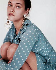 Realisation Par, Tumblr, How To Pose, Blue Polka Dots, Silk Crepe, Dusty Blue, I Love Fashion, Fashion Outfits, Womens Fashion