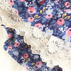 """Those floral lace tho'! Love the details in our Christine bloomers. Free shipping expires tonight so hop to it! Code """"freeship17"""". Click the link in my profile."""