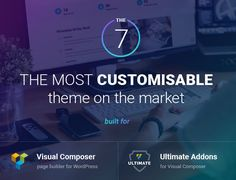 The7. Responsive Multi-Purpose WordPress Theme. Business, corporate, creative, custom layout, customizable, parallax, photography, portfolio, seo, striped backgrounds, visual composer.