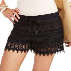 No Boundaries Juniors Crochet Shorts - Walmart.com