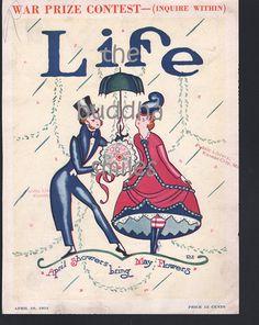 """Artista originale Life Magazine Cover, """"Aprile docce portare può fiori"""", 10 aprile 1924 Rea Irvin on Etsy,"""