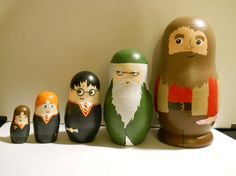 Harry Potter Nesting Dolls - I'd make these if I could paint well!
