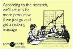 According to the research, we'll actually be more productive if we just go and get a relaxing massage!  Come to Pressure Point Massage Therapy in Southfield, MI for a FANTASTIC massage!  Call us NOW at (248) 358-8800 to book your appointment!  Feel free to visit our website www.pressurepointmassagetherapy.com for more information!