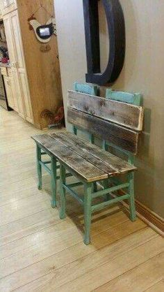 What a great idea for a few chairs with broken seats!