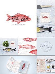 Bona Fide Design Co. www.bonafidedesignco.com  Love seafood? We're willing to suggest you might appreciate Fish Lab by William Wu. Fish Lab offer a broad selection of locally sourced, cured and smoked seafood. A unique concept retail store, Fish Lab allow the customers to experience seafood in new and exciting ways. #logo #branding #design