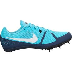 Nike Women's Zoom Rival MD 8 Track Spikes (Blue/White, Size - Track And Field Shoes at Academy Sports Sprint Spikes, Track And Field Spikes, Girls Track Shoes, Running Spikes, Racing Shoes, Spike Shoes, Sneaker Heels, Sneakers, Types Of Shoes