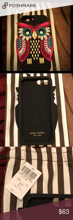 New Henri Bendel owl iPhone 7/8 Plus case Never used. Super cute. New collection henri bendel Accessories Phone Cases