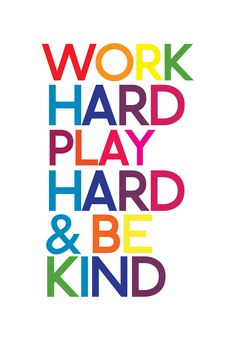 Work Hard Play Hard Posters on Behance