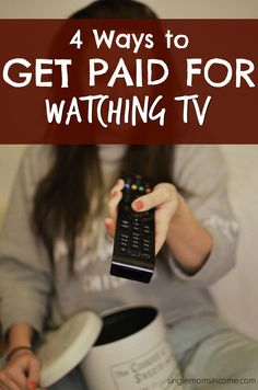 Need extra money don't want to cut into your relaxation time? Here are four real ways you can make money watching TV - it doesn't get any better than this!