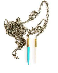 Free Spirit Shaking Soul - Bullet Necklace - www.ecosphere.se