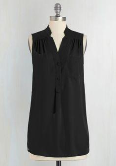 Girl about Scranton Tunic in Black, @ModCloth