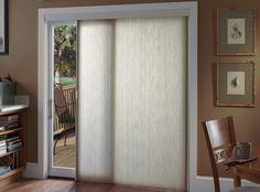 Cellular shade - vertical slider - shade for patio door