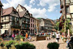 Kayserberg village alsacien  élu  plus beau village de France 2017