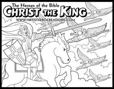 the heroes of the bible coloring pages christ the king - Colouring Sheets For Toddlers