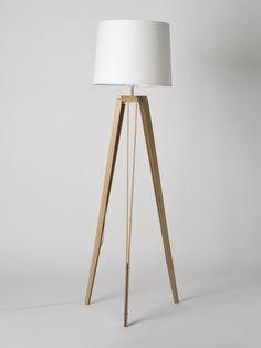 Oak RS-2 Tripod Floor Lamp Made by Douglas and Bec - Douglas + Bec