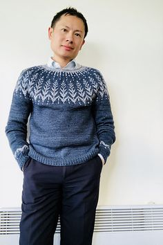 Ravelry: Vintersol pattern by Jennifer Steingass Ravelry, Got 1, Color Combinations, Free Pattern, Knitting Patterns, Men Sweater, Sweaters, How To Make, Stuff To Buy