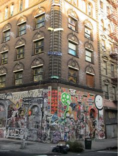 Graffiti Building in East SoHo, NYC