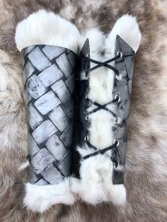 Excited to share this item from my shop: Dwarven armor - Viking armor - Elven Armor - Fur bracers - Larp - Cosplay - Production props Dwarven Armor, Sca Armor, Viking Armor, Viking Dress, Viking Ship, Barbarian Armor, Character Inspiration, Character Design, 3d Character