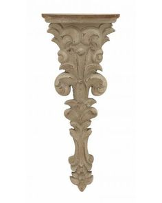 Weathered corbel wall shelf with a classical floral design. Product: ShelfConstruction Material: PolystoneColor: Vintage stoneFeatures: Floral designDimensions: H x W x D Wall Ledge Shelf, Wall Mounted Shelves, Display Shelves, Hallway Shelving, Dream Decor, Decoration, Vintage Floral, Icon Design, Accent Decor