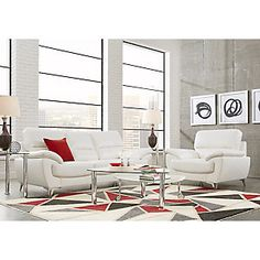Northway White 5 Pc Living Room.999.99. Find affordable Living Room Sets for your home that will complement the rest of your furniture. #iSofa #roomstogo