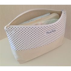 Zipper Nappy Clutch / Pouch / Wallet - Dotty | Maudie Paudie Handmade
