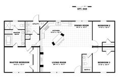 Clayton | Home Floor Plan | Manufactured Homes, Modular Homes, Mobile Homes