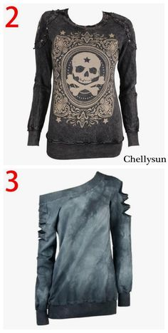 Chellysun Autumn Winter Punk Style Lace Long-sleeved Shirt - Chellysun Edgy punk outfits grunge style for school cute emo classy for girls summer for teens polvore #punk #rocks #shirts #tshirt #edgy #outfits #outfitideas #grunge #grungegirl #grungestyle #cute #classy #girl #summerstyle #summer #teen #teenage #teeshirt #zara #hm #fashion #trending #skull #americanstyle #streetstyle
