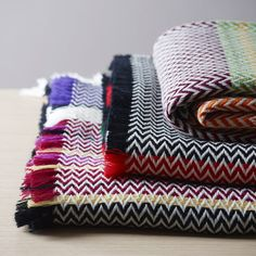 Bunad Blankets. Oslo designer Andreas Engesvik has created a series of blankets inspired by the textiles of Norwegian folk costumes. via de zeen
