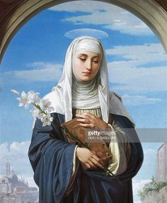 St Catherine of Siena, 1888, by Alessandro Franchi (1838-1914). detail. (Photo by DeAgostini/Getty Images); Rome, Galleria Nazionale D'Arte Moderna (National Gallery Of Modern Art).