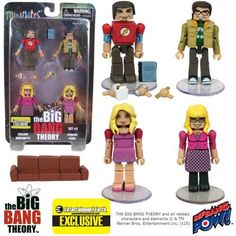 The Big Bang Theory Minimates Set 2 - EE Exclusive