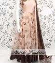 Full FlairLight Peach OutfitHighlighted With Precisely made Stone Work & Elegant EmbossedPrint On entire Outfit.Outfit Comes With soft net Duppata