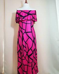 USED Vintage Woman Black Fuchsia Infinity Dress-Vintage Abito Infinity Fucsia Nero Donna Vintage Ladies, Vintage Woman, Infinity Dress, Vintage Dresses, Pin Up, Strapless Dress, Vintage Fashion, Etsy, Black