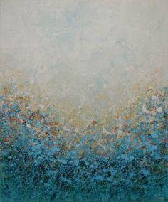 """Saatchi Art Artist Lisa Carney; Painting, """"Blue Wood Mist (Featured Painting)"""" #art"""