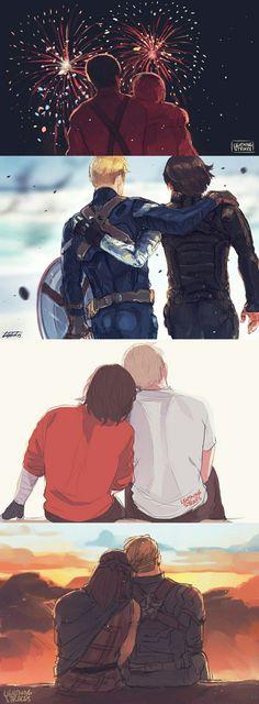 Stucky    Captain America x Bucky Barnes    Cr: LightningStrikes