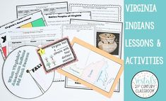 Are you a Virginia Studies teacher? Here are 7 hands-on Virginia Indians lessons, activities, and games that students will love! #vestals21stcenturyclassroom #virginiastudies #virginiaindians