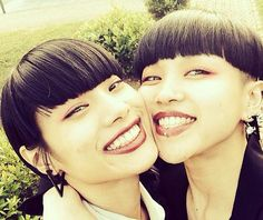 Cutest couple ever ! Aya Sato And Bambi, Hairstyles With Bangs, Cool Hairstyles, Pretty People, Beautiful People, Engaged To Be Married, Cutest Couple Ever, Short Bangs