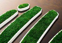 Logotyp z mchu naturalnego MOSS TREND.  Ekologiczna identyfikacja graficzna. Zapraszamy do BandIt Design: www.banditdesign.pl #logo #eco #design