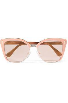 Prada - Square-frame Acetate And Gold-tone Sunglasses - Pink - One size