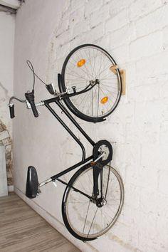 Tokyo Bike rack / bike wall mount / wooden wall hooks /