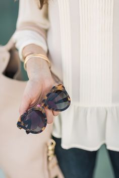 karen walker tortoise number one sunglasses