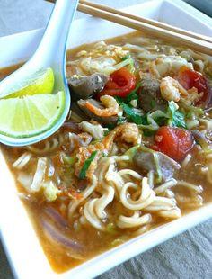 Mie rebus Jawa. #Indonesian recipes #Indonesian cuisine #Asian recipes #Asian cuisine http://indostyles.com/