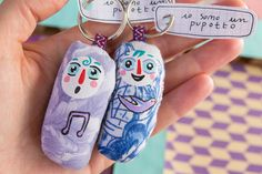 Two magic PUPOTTI to protect your home's key by cevi on Etsy, $24.50